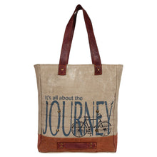 Load image into Gallery viewer, ALL ABOUT THE JOURNEY TOTE BAG