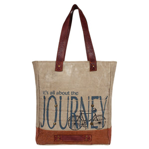 ALL ABOUT THE JOURNEY TOTE BAG