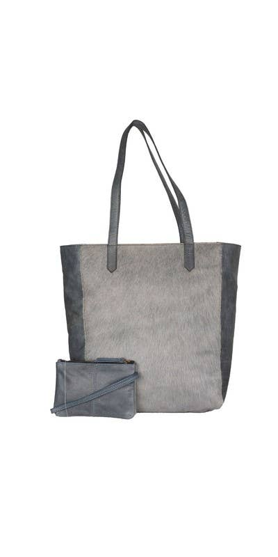 Skylar Cowhide Tote With Bonus Bag, M-6502