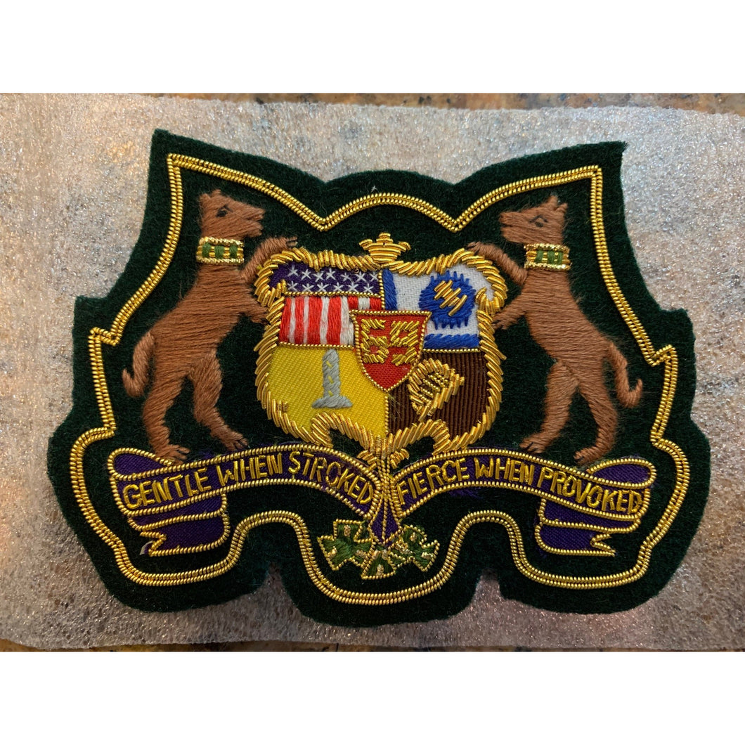 69th Regiment Blazer Crest, Bullion, Magnetic
