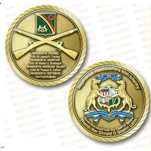 69th Regiment Challenge Coin