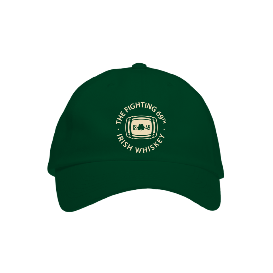 Fighting 69th Irish Whiskey Caps, Green, Khaki