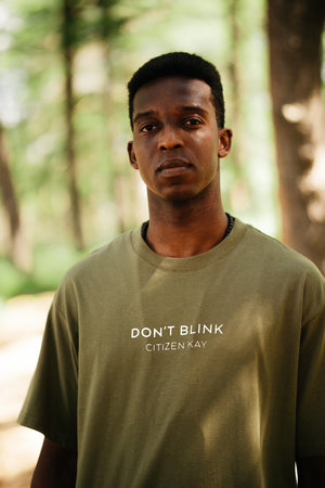 Don't Blink CK Military Green Tee