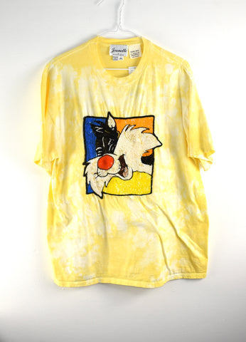 Vintage Sylvester Sequin Reworked T shirt