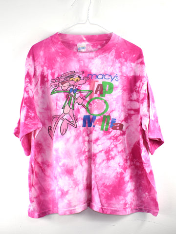 Vintage Pink Panthers Macy T shirt Crop  Reworked