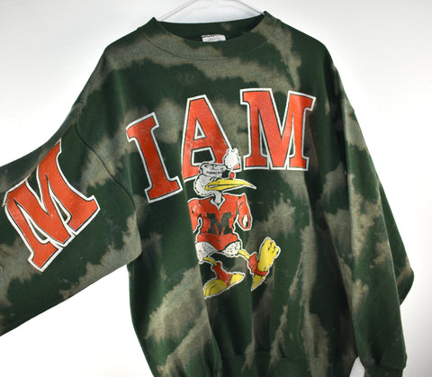 Vintage Miami Hurricanes Crew Neck Reworked