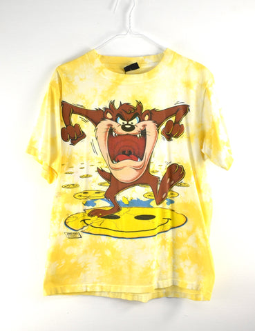 Vintage Taz Smiley Face T Shirt  Reworked