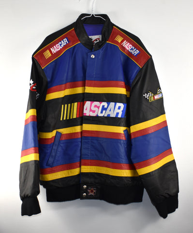 Vintage Jeff Jamilton Leather Nascar Jacket