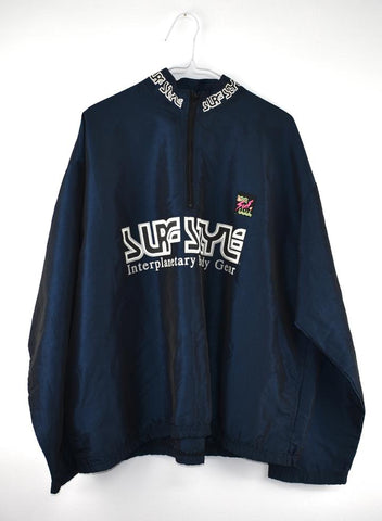 VINTAGE SURF STYLE SPELL OUT WINDBREAKER