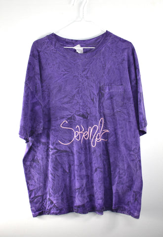 Sekendz Vintage Purple Pocket Tie Dye Shirt