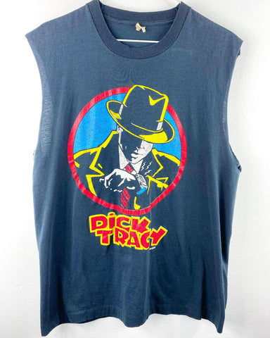 Vintage Reworked Dick Tracy Sleeveless Shirt