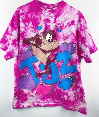 Vintage Taz Hearts T Shirt Reworked
