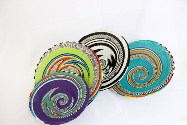 Telephone wire recycled baskets