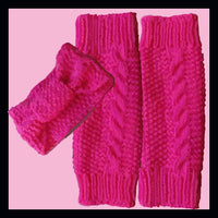 Girls Cable Headband & Leg warmers