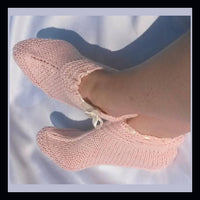 Knitting Pattern: Ladies Ankle Slippers