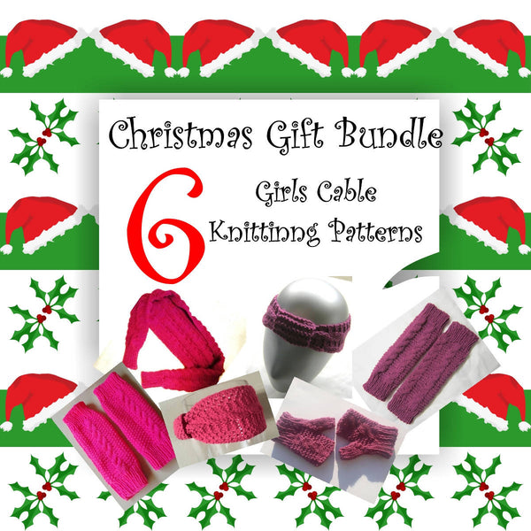 Girl's Cable Knitting Pattern Bundle