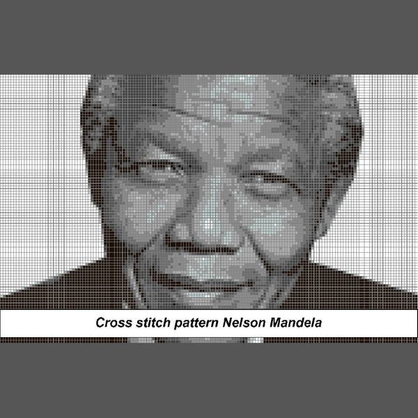 Nelson Mandela, Madiba Cross Stitch Pattern