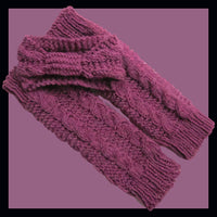 Knitting Pattern: Girls Double Cable Headband and Leg Warmers