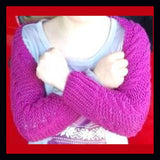Girls Cable Shrug Knitting Pattern