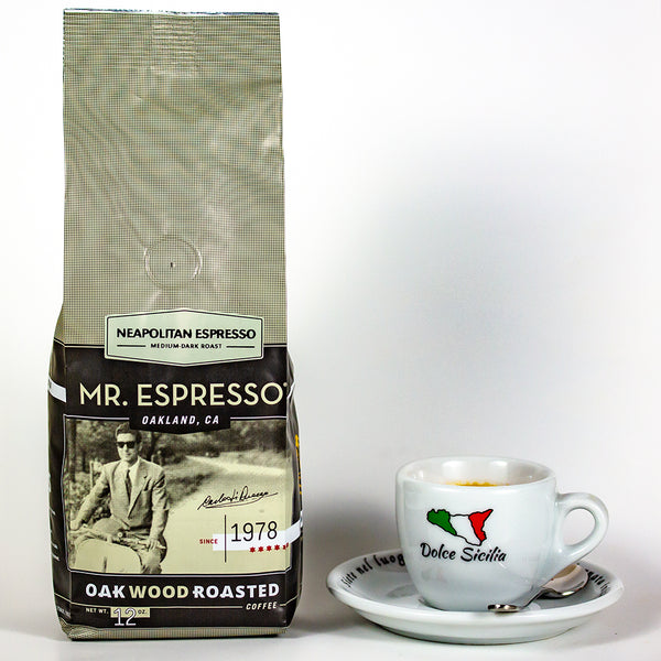Mr. Espresso coffee beans package