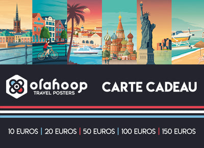 Cartes-Cadeaux | Olahoop Travel Posters - Olahoop Travel Posters