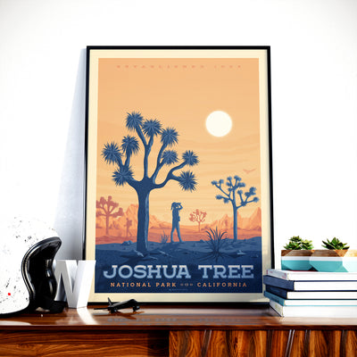 Affiche Vintage Joshua Tree National Park | Poster Retro Joshua Tree Etats-Unis | Californie - Olahoop Travel Posters