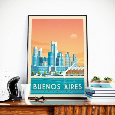 Affiche Buenos Aires Vintage | Poster Ville Buenos Aires Argentine - Olahoop Travel Posters