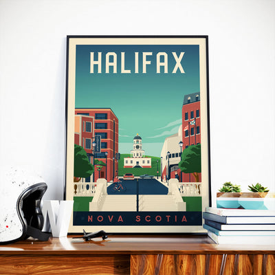 Affiche Halifax Vintage | Poster Ville Halifax Nouvelle-Ecosse Canada - Olahoop Travel Posters