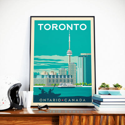 Affiche Toronto Vintage | Poster Ville Toronto Ontario Canada - Olahoop Travel Posters