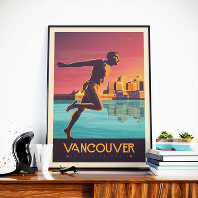 Affiche Vancouver Vintage | Poster Ville Vancouver Canada - Olahoop Travel Posters
