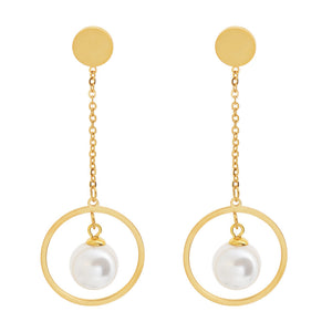 Aretes Hanging Pearls