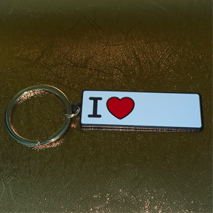 "Small ""I Heart"" Keychain"