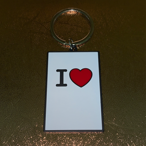 "Large ""I Heart"" Keychain"