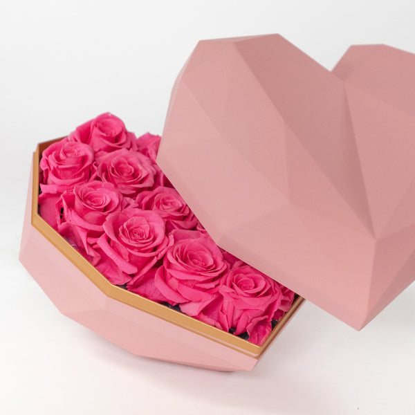 Cass Fuchsia Pink Gift Box – Daisy Dreams Preserved Flowers