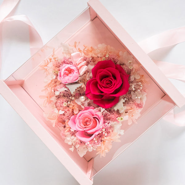 Pearly Gift Box Blush Pink Best Gift For Her – Daisy Dreams Preserved Flowers