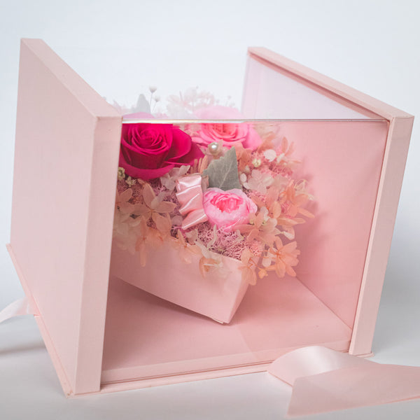 Pearly Gift Box Blush Pink Best Gift – Daisy Dreams Preserved Flowers