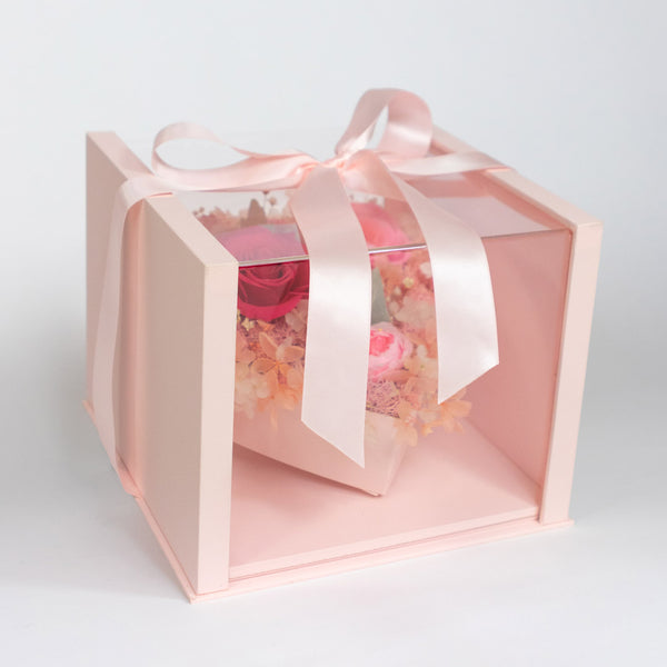 Pearly Gift Box Blush Pink – Daisy Dreams Preserved Flowers