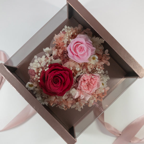Pearly Gift Box Dusty Pink Best Gift For Her – Daisy Dreams Preserved Flowers