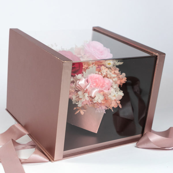 Pearly Gift Box Dusty Pink Best Gift – Daisy Dreams Preserved Flowers