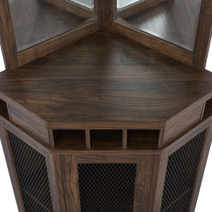 Oak Corner Bar Unit