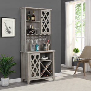 Grey Wine Bar Cabinet