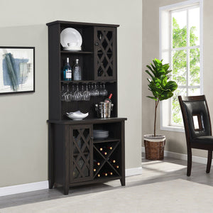 Oak Wine Bar Cabinet