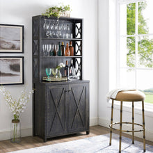 Load image into Gallery viewer, Elegant Charcoal Bar Cabinet