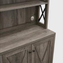 Load image into Gallery viewer, Elegant Stone Grey Bar Cabinet