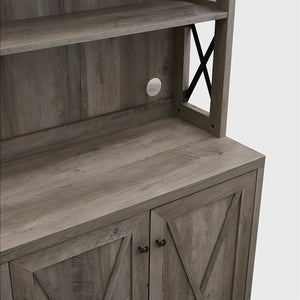 Elegant Stone Grey Bar Cabinet