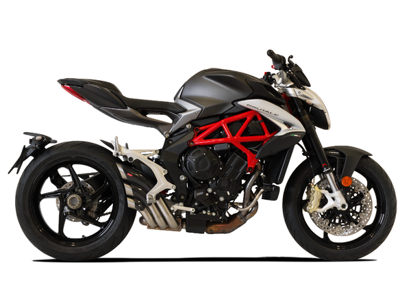 "HP CORSE MV Agusta Brutale 800/RR Slip-on Exhaust ""HydroTre Satin"" (racing; with carbon cover)"