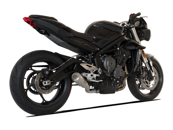"HP CORSE Triumph STREET TRIPLE 765 Slip-on Exhaust ""GP-07 Satin with Wire Mesh"" (racing)"