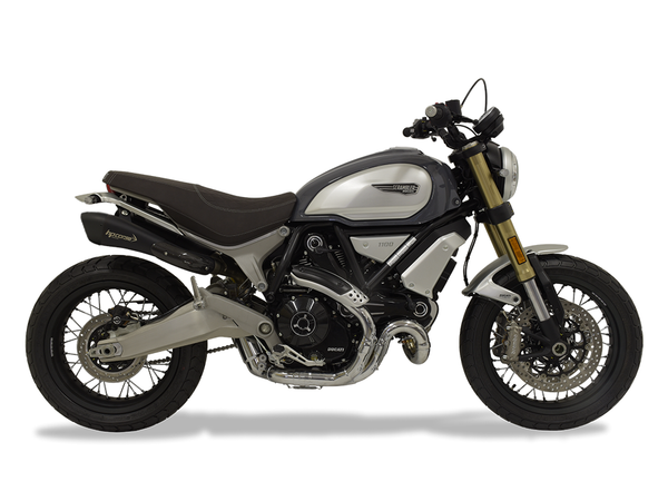 "HP CORSE Ducati Scrambler 1100 Dual Slip-on Exhaust ""Hydroform Short Black"" (racing)"