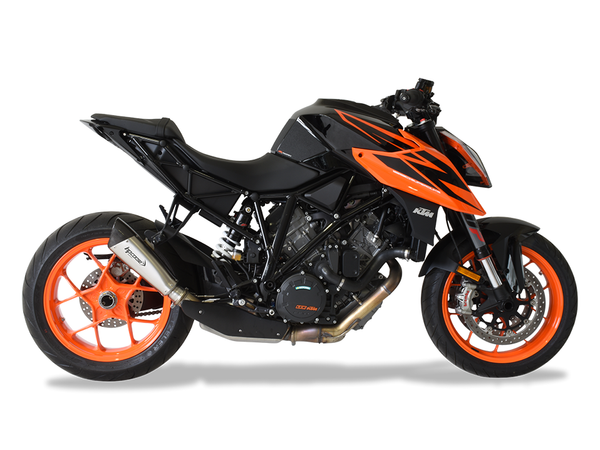 "HP CORSE KTM 1290 Super Duke R (2017 – ) Slip-on Exhaust ""Evoxtreme Titanium"" (racing only)"