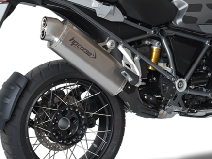 "HP CORSE BMW R1200GS (13/18) Slip-on Exhaust ""4-Track R Satin"" (EU homologated)"